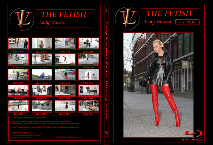 Lady Vanessa Fetish Blu-ray 35-36 Cover