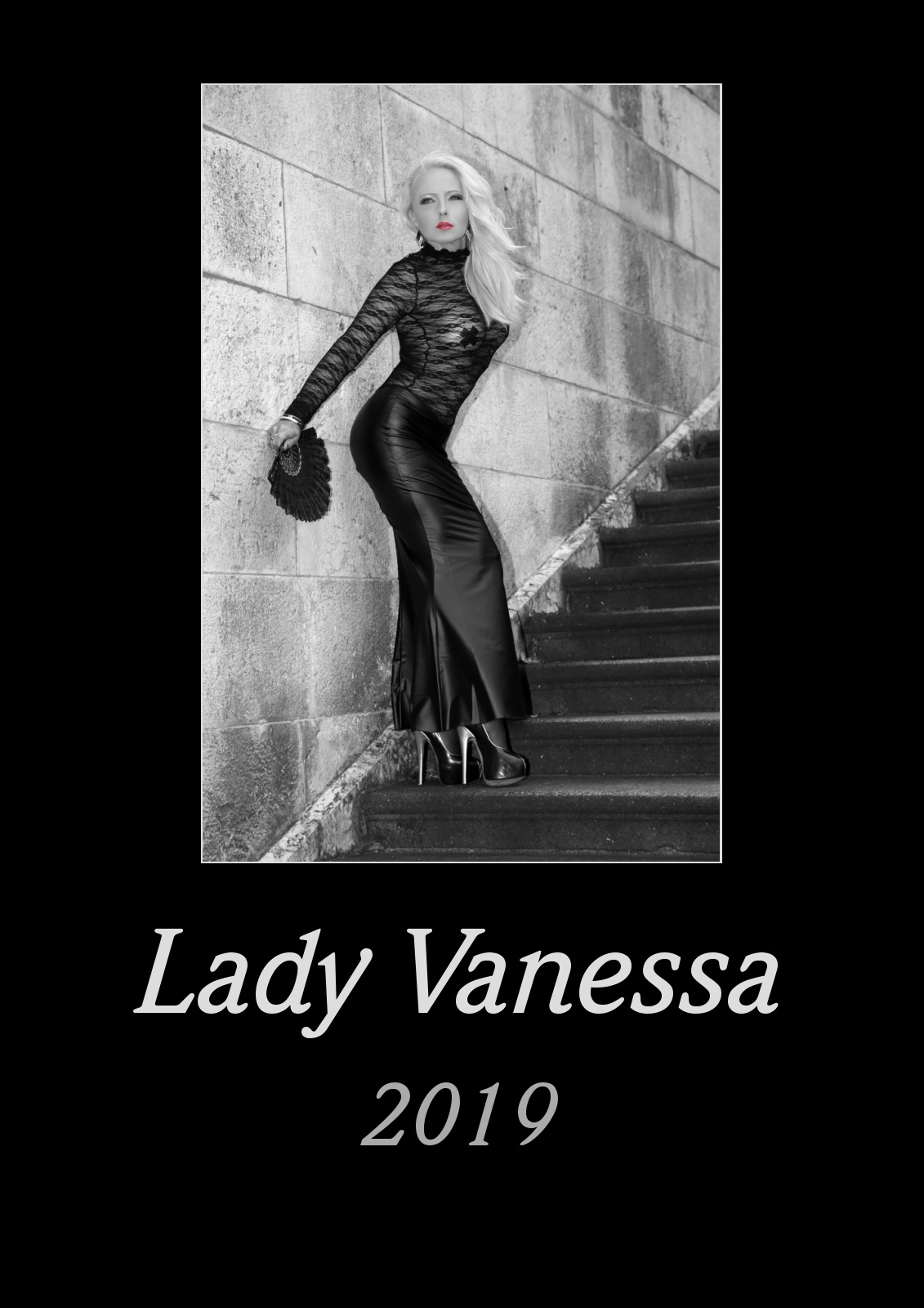 Lady Vanessa Kalender 2019 black/white